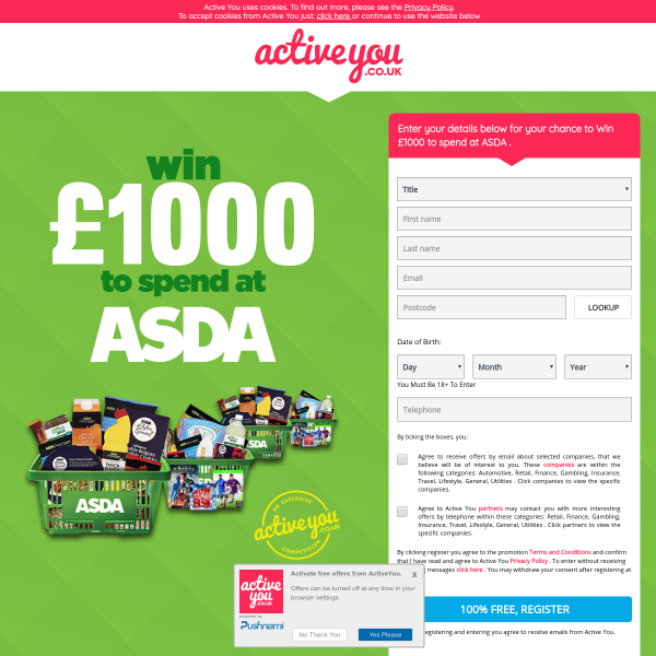 Win £1,000 to spend at ASDA