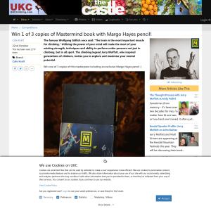 UKClimbing com - Win 1 of 3 copies of Mastermind book with Margo