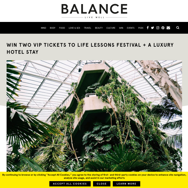 Win 2 VIP tickets to Life Lessons Festival + a luxury hotel stay
