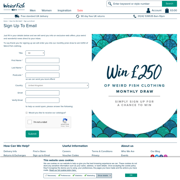 Win £250 of Weird Fish clothing