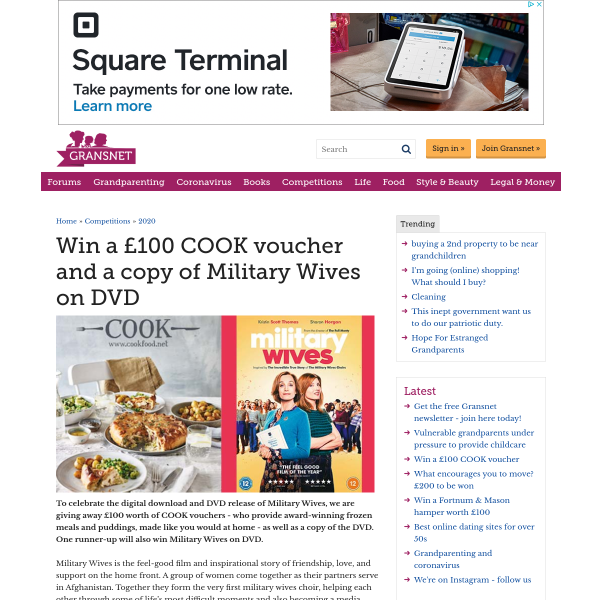 Win a £100 COOK Voucher and copy of Military Wives
