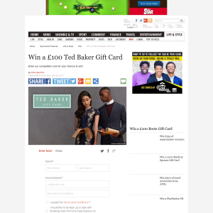 deeb13261ccc Express - Win a £100 Ted Baker Gift Card - CompetitionsUK.co.uk