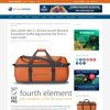 Win A 120 Litre Fourth Element Expedition Duffel Bag