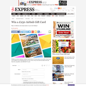 Daily Express Win A 250 Airbnb Gift Card Competitionsuk Co Uk