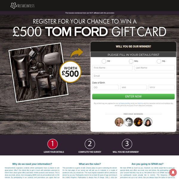 Win A £500 Tom Ford Gift Card