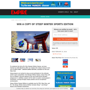 Win A Copy Of Steep Winter Sports Edition