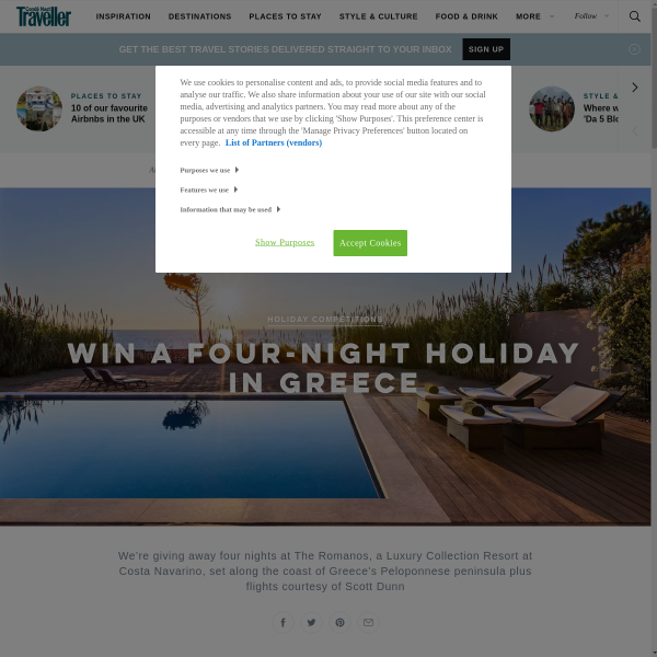 Win a four-night holiday in Greece