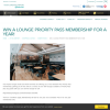Win a Lounge Priority Pass Membership for a Year