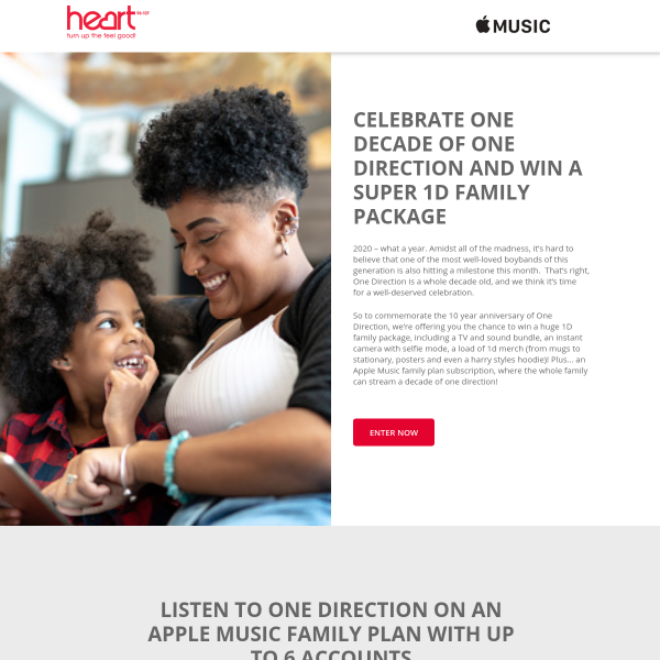 Win a One Direction ultimate family package