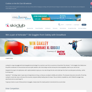 f5043f9f5e85 Ski Club of Great Britain - Win a pair of Airbrake™ Ski Goggles from ...