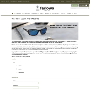 8687731d11 Farlows - Win a Pair Of Costa Del Mar Sunglasses - CompetitionsUK.co.uk