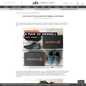 4e06f302ad Simply Hike - Win a Pair of Merrell Trail Shoes - CompetitionsUK.co.uk