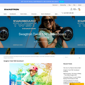 Win a Swagtron Hoverboard