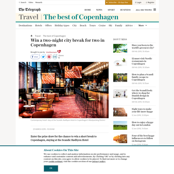 Win a two-night city break for two in Copenhagen