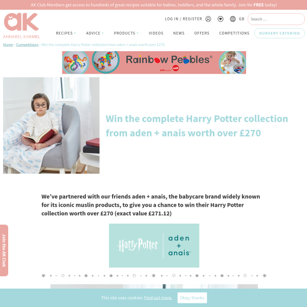 Win the complete Harry Potter collection from aden + anais