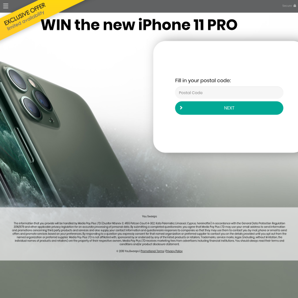Win the new iPhone 11 PRO